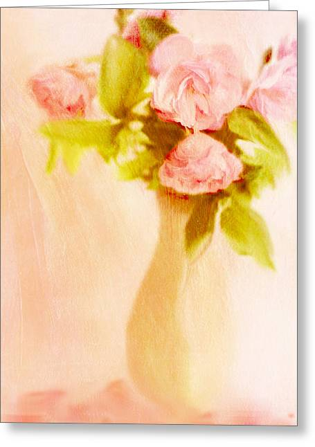 Fleurs Pastel Greeting Card by Linde Townsend
