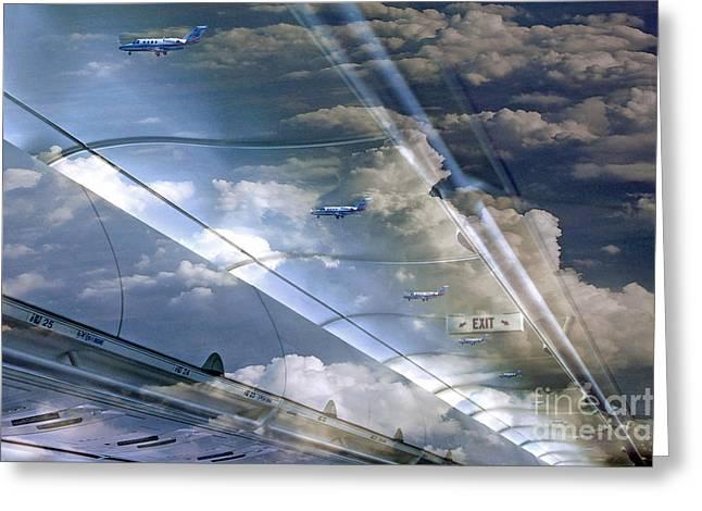 Flight II Greeting Card by Robert Meanor