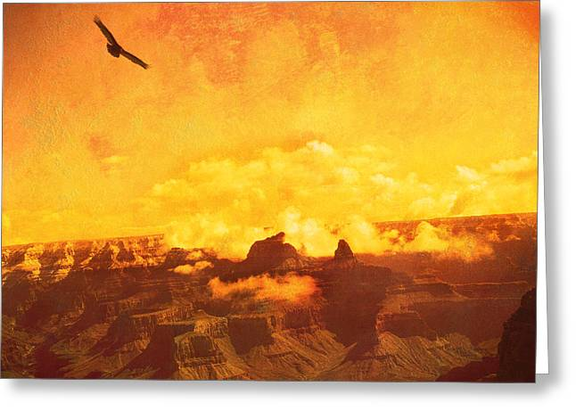 Flight Over Grand Canyon Greeting Card
