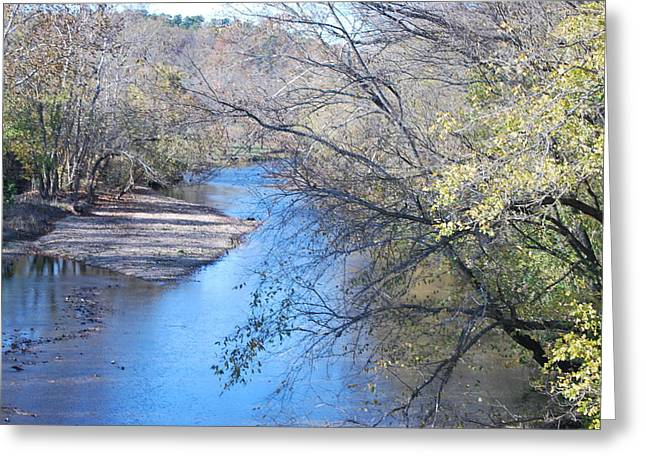 Flint Creek Colcord Oklahoma Greeting Card by Michele Carter