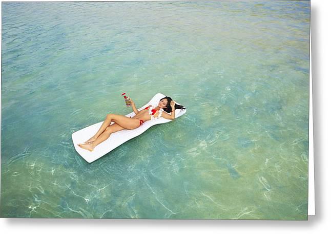 Floating At Sea Greeting Card