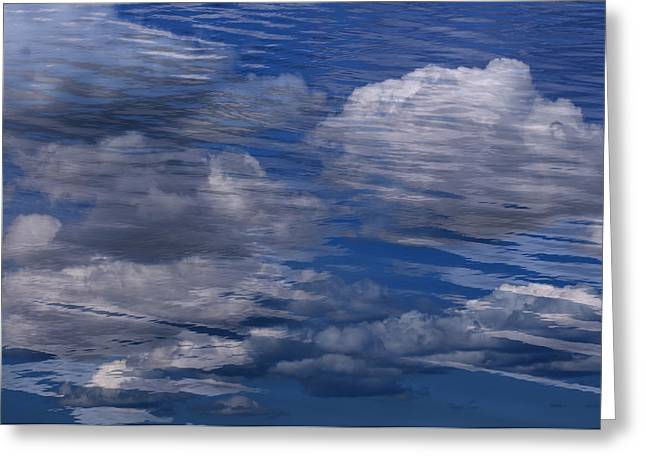 Floating Clouds Greeting Card by Michael Mogensen