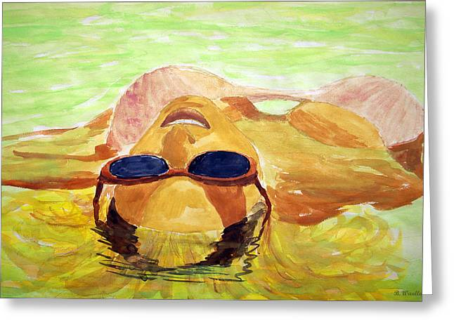 Floating In Water Greeting Card by Brian Wallace
