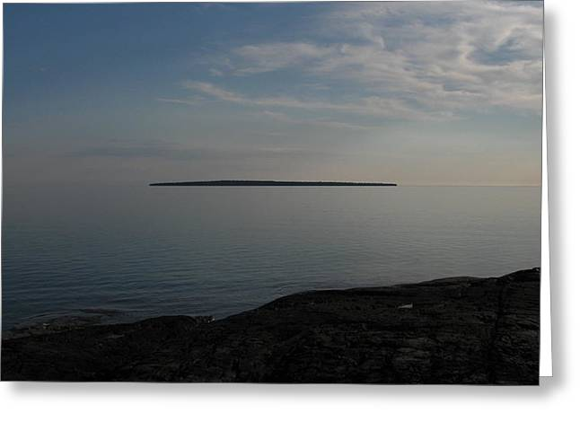 Floating Island Greeting Card by Waldemar Okon