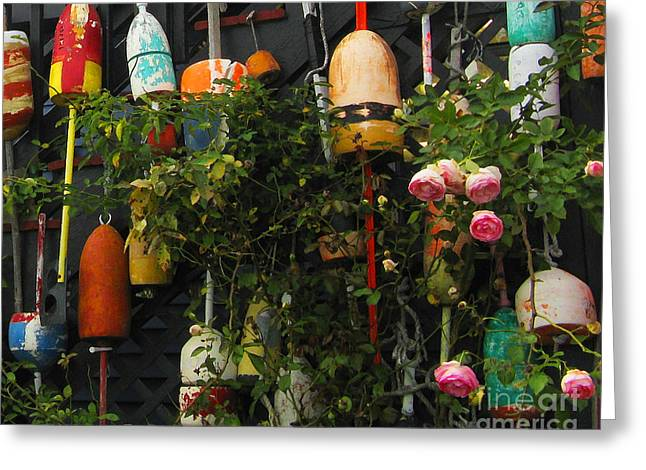 Floats And Roses Greeting Card by Patricia Januszkiewicz