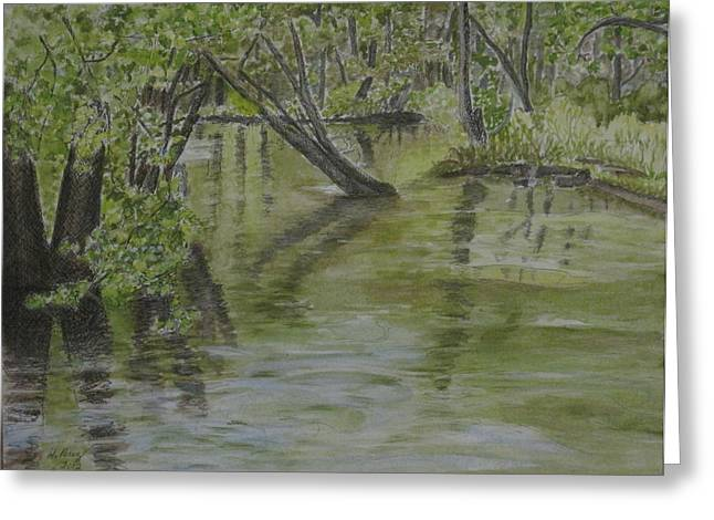 Flood Greeting Card by Heather Perez