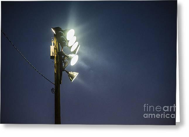 Floodlights Greeting Card by John Greim