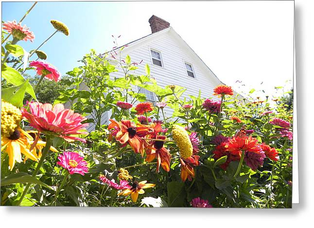 Flora House Greeting Card