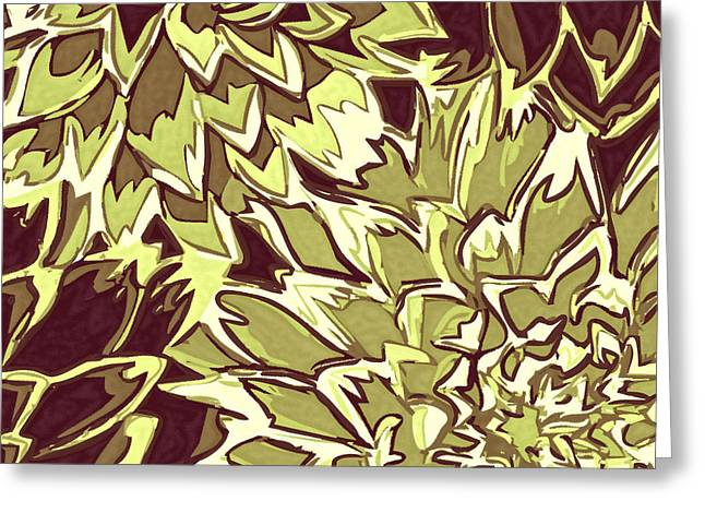 Floral Abstraction 19 Greeting Card by Sumit Mehndiratta