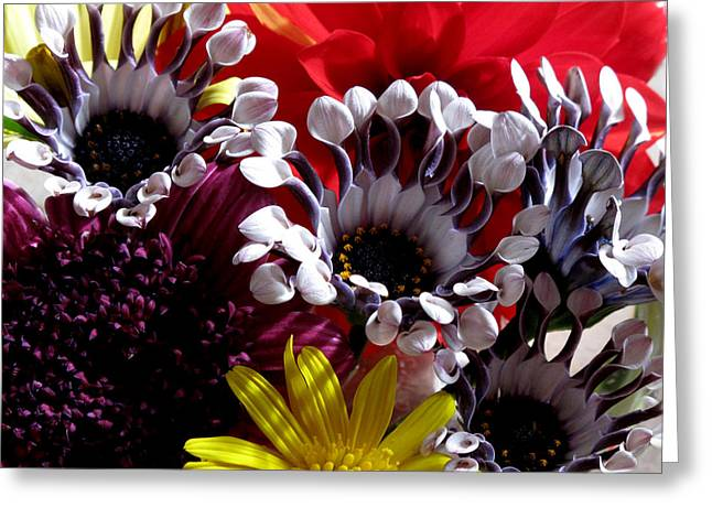 Floral Bliss Greeting Card by Monika A Leon
