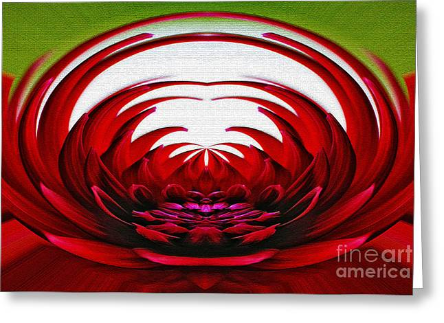 Floral Flames Greeting Card by Kaye Menner