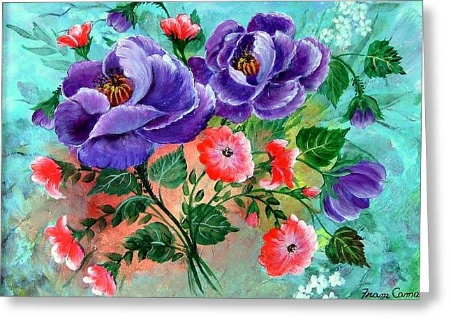 Floral Frenzy Greeting Card