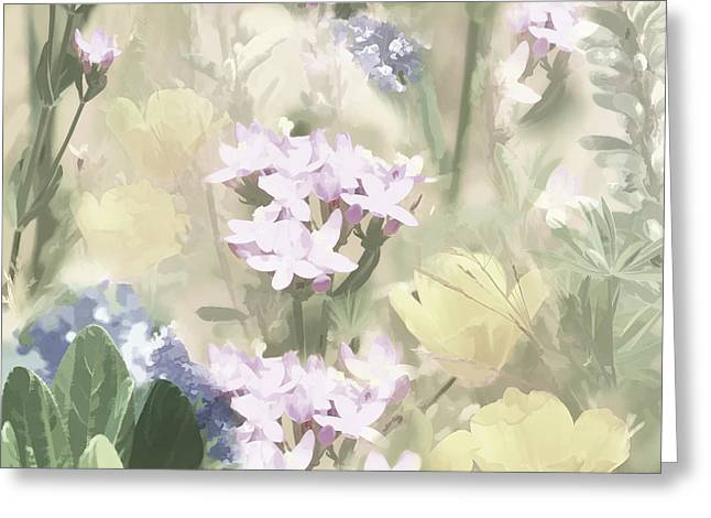 Floral Montage No. 4 Greeting Card by Bonnie Bruno