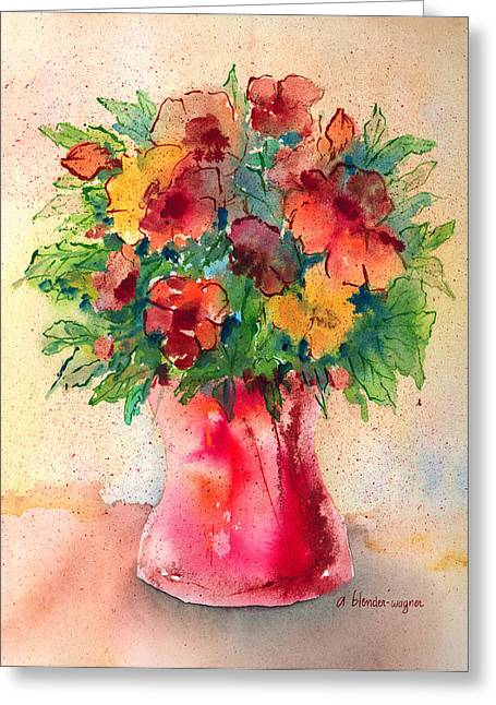 Floral Still Life Greeting Card by Arline Wagner