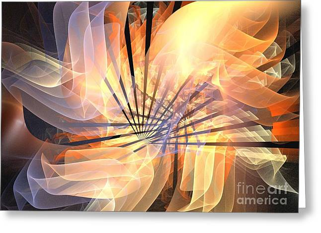 Floral Supernova Greeting Card by Kim Sy Ok