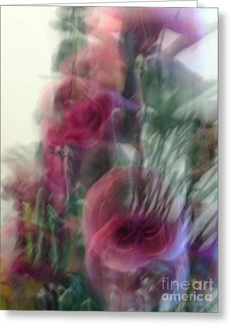 Florals In Motion 2 Greeting Card by Cedric Hampton