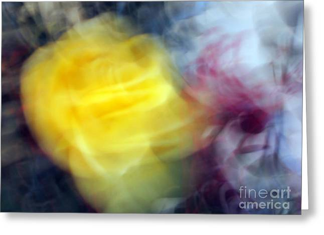 Florals In Motion 3 Greeting Card by Cedric Hampton