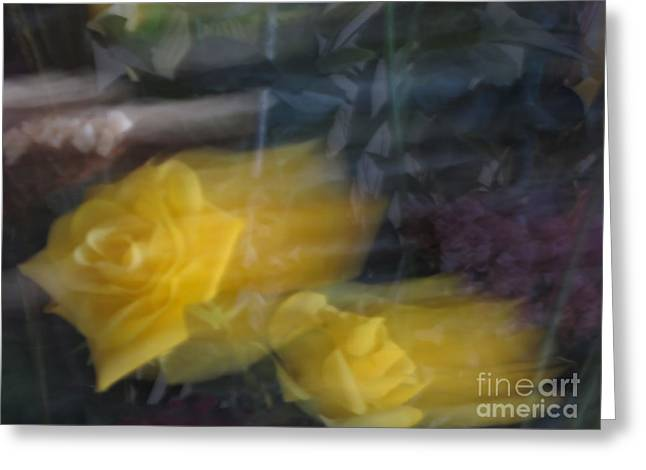 Florals In Motion 7 Greeting Card by Cedric Hampton
