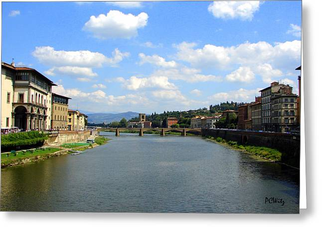 Greeting Card featuring the photograph Florence Arno River by Patrick Witz