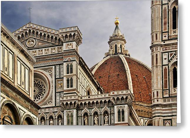 Greeting Card featuring the photograph Florence Duomo by Steven Sparks
