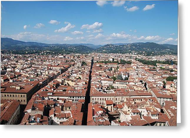 Greeting Card featuring the photograph Florence From The Duomo by Dany Lison