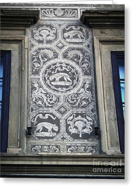 Florence Italy - Architectural Detail - 01 Greeting Card by Gregory Dyer