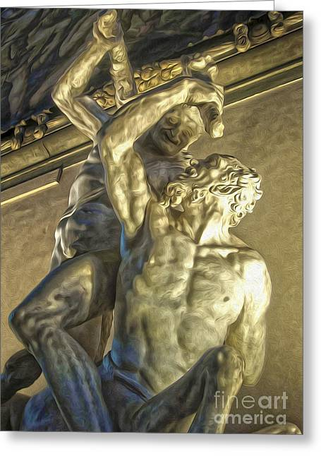 Florence Italy - Hercules Beating The Centaur Nessus Greeting Card