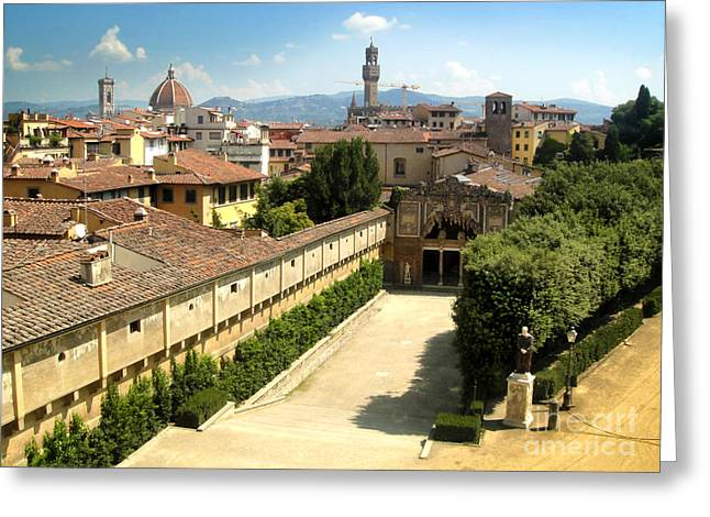 Florence Italy - Pitti Palace - 02 Greeting Card by Gregory Dyer