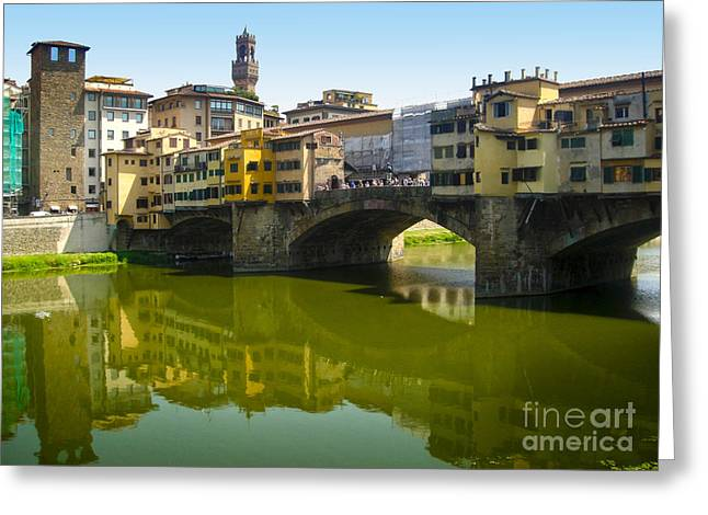 Florence Italy - Ponte Vecchio - 05 Greeting Card by Gregory Dyer