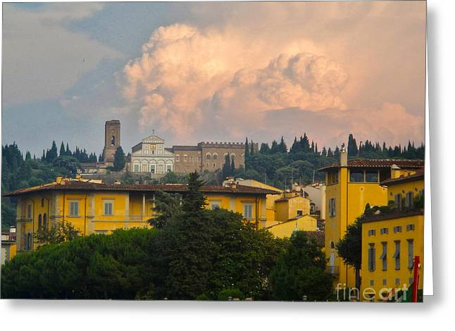 Florence Italy - San Miniato Al Monte Greeting Card by Gregory Dyer