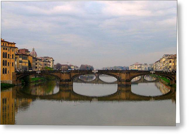 Florence Italy Bridge Greeting Card