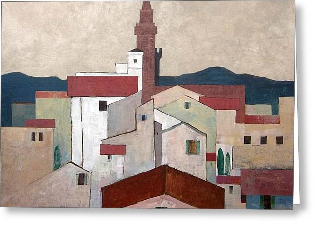 Florence Rooftops Greeting Card by Micheal Jones