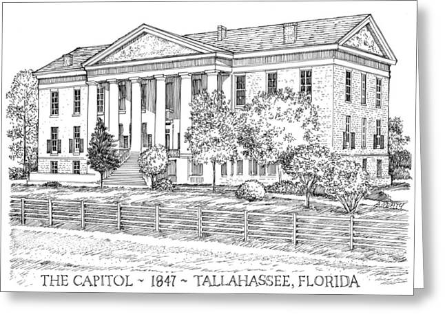 Florida Capitol 1847 Greeting Card