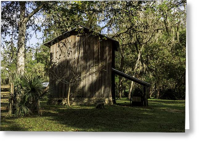 Florida Cracker Barn Greeting Card by Lynn Palmer