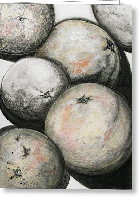 Florida Grapefruit Greeting Card by Rebecca Moore