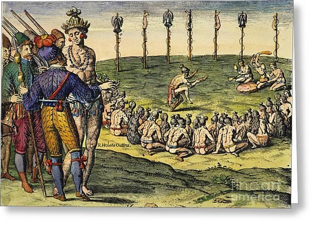 Florida: Native Americans, 1591 Greeting Card