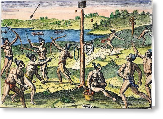 Florida Native Americans:sports, 1591 Greeting Card