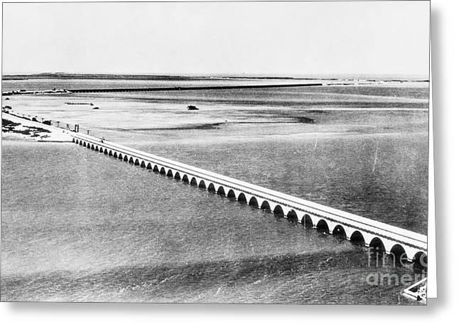 Florida: Overseas Bridge Greeting Card by Granger