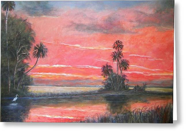 Florida River Scene Greeting Card by Mike McCaughin