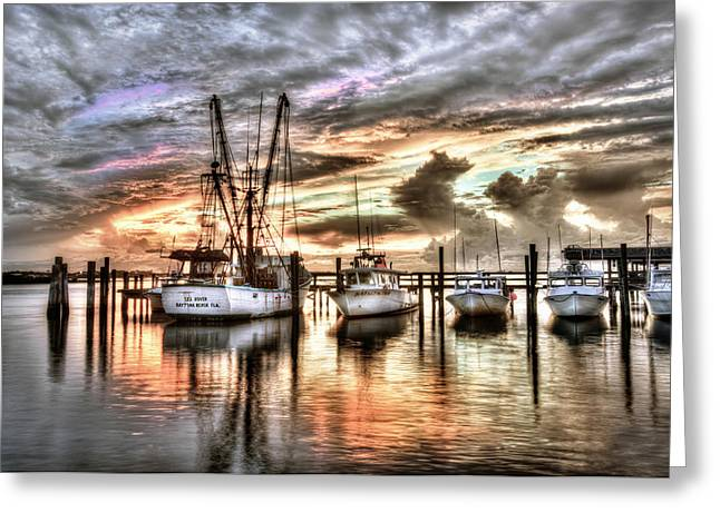 Florida Sunset Greeting Card by Brent Craft