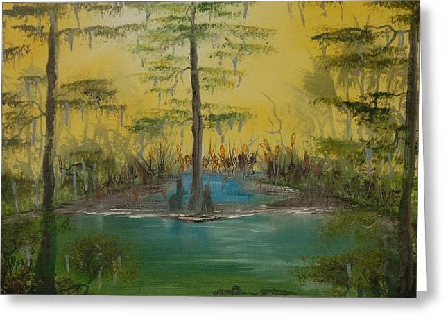 Florida Swamp Greeting Card by Katheryn Napier