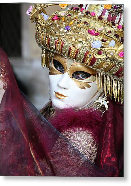 Florimonde With Her Veil Greeting Card by Donna Corless