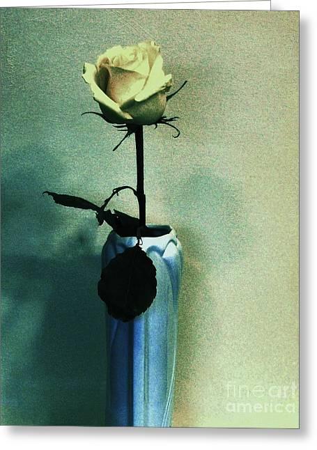 Flourescent Rose Greeting Card