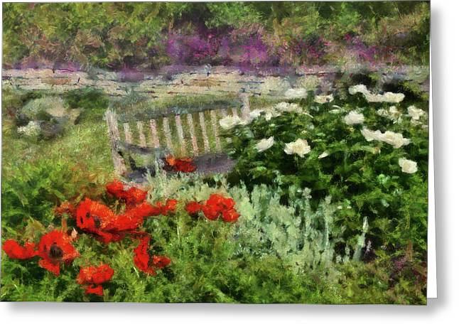Flower - Poppy - Poppies  Greeting Card by Mike Savad