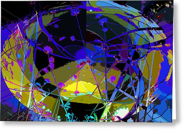 Greeting Card featuring the digital art Flower Abstract by Anne Mott
