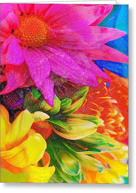 Flower Box Greeting Card by Empty Wall