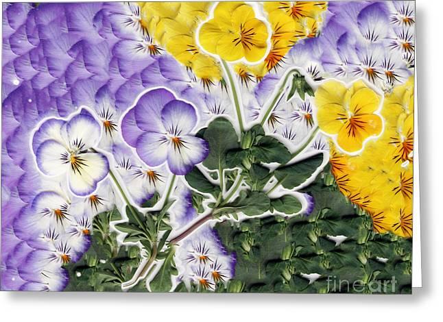 Flower Collage Greeting Card by Dustin K Ryan