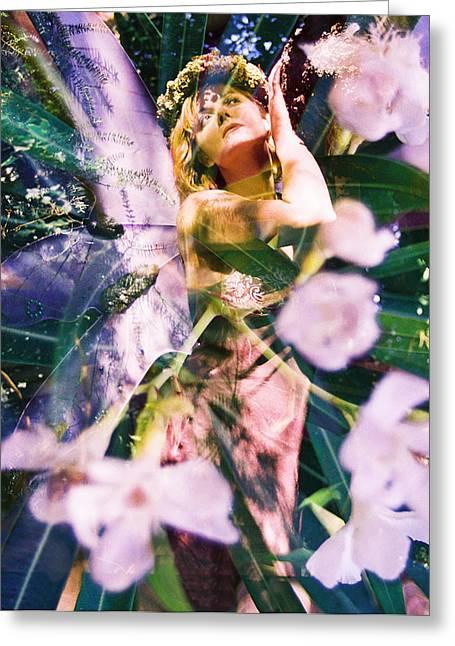 Flower Faerie Dreams Greeting Card by Cyoakha Grace