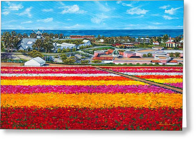 Flower Fields Greeting Card by Lisa Reinhardt