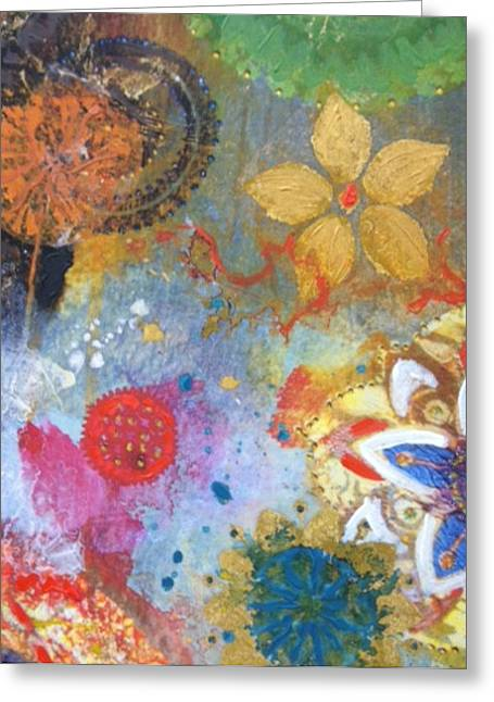 Flower Garden Greeting Card by Elizabeth Coats